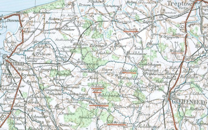 Map of Greifenberg